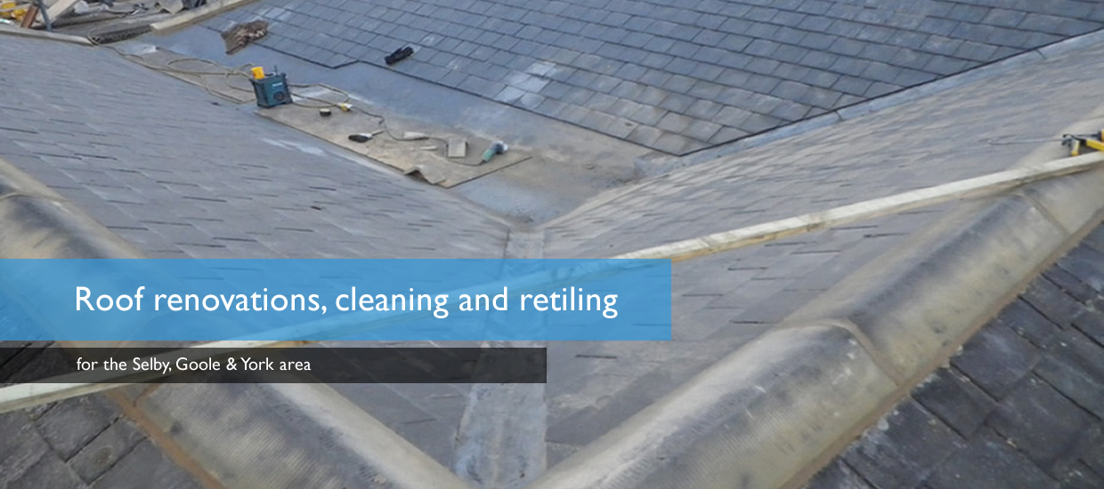 Roof renovations cleaning retiling